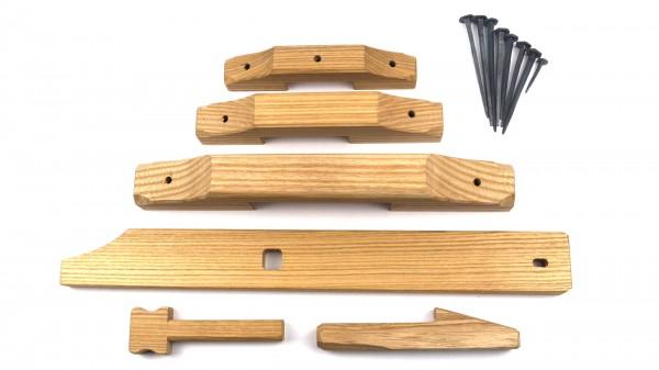 Geschmiedetes Türschloß, Holzschloß, Hebefalle